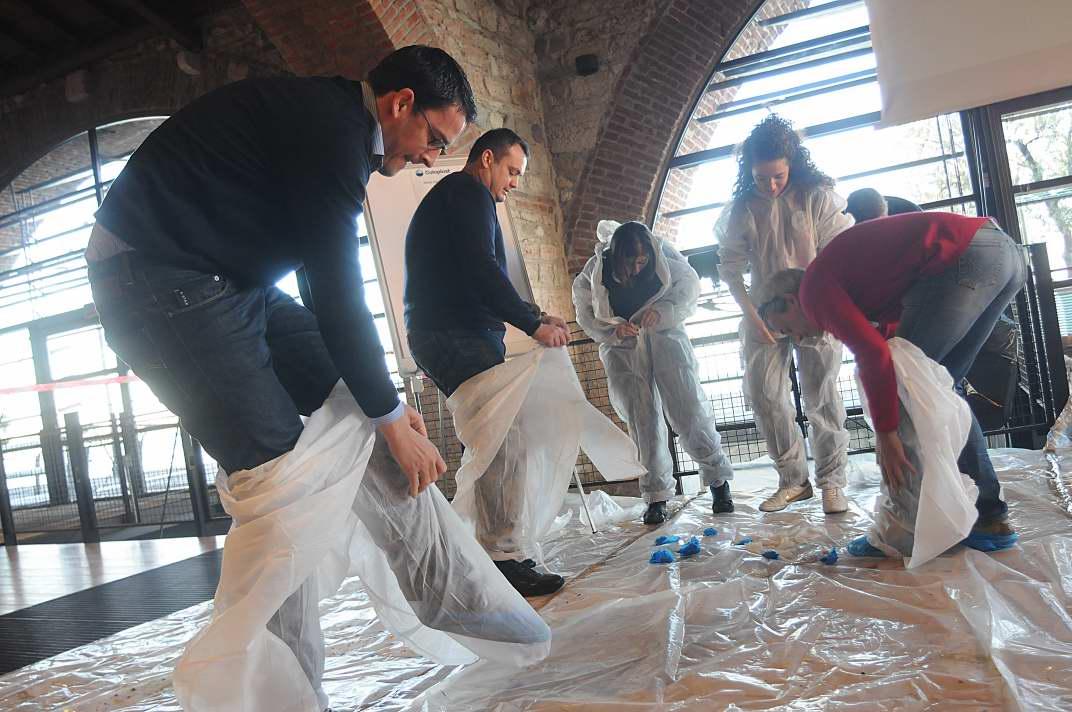 Incentivazione - Active Painting - preparazione - Team Building Verona