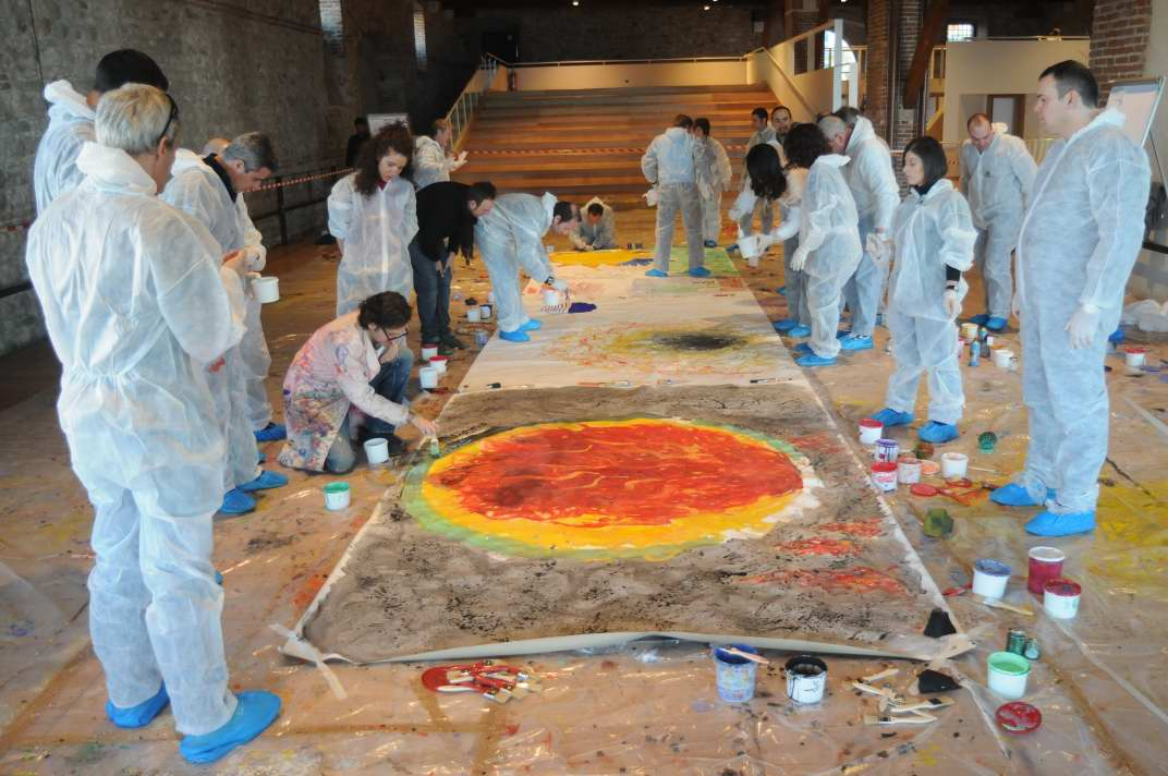 Incentivazione - Active Painting - Team Building Verona - Coloplast - particolare