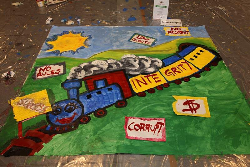 Active painting, team building, team building verona, orthofix, formazione, incentivazione, pennelli, pittura emozionale, integrità, successo